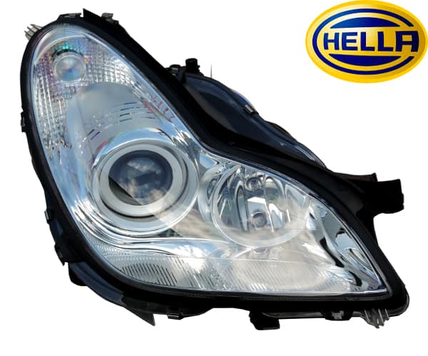 w219 headlight xenon right side 2198200661 from hella. Black Bedroom Furniture Sets. Home Design Ideas
