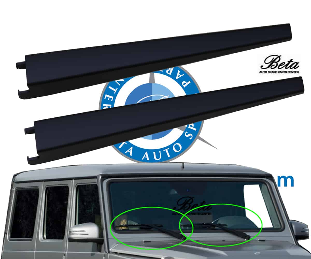 W463 Wiper Arm Cover Mat Black Left And Right Set