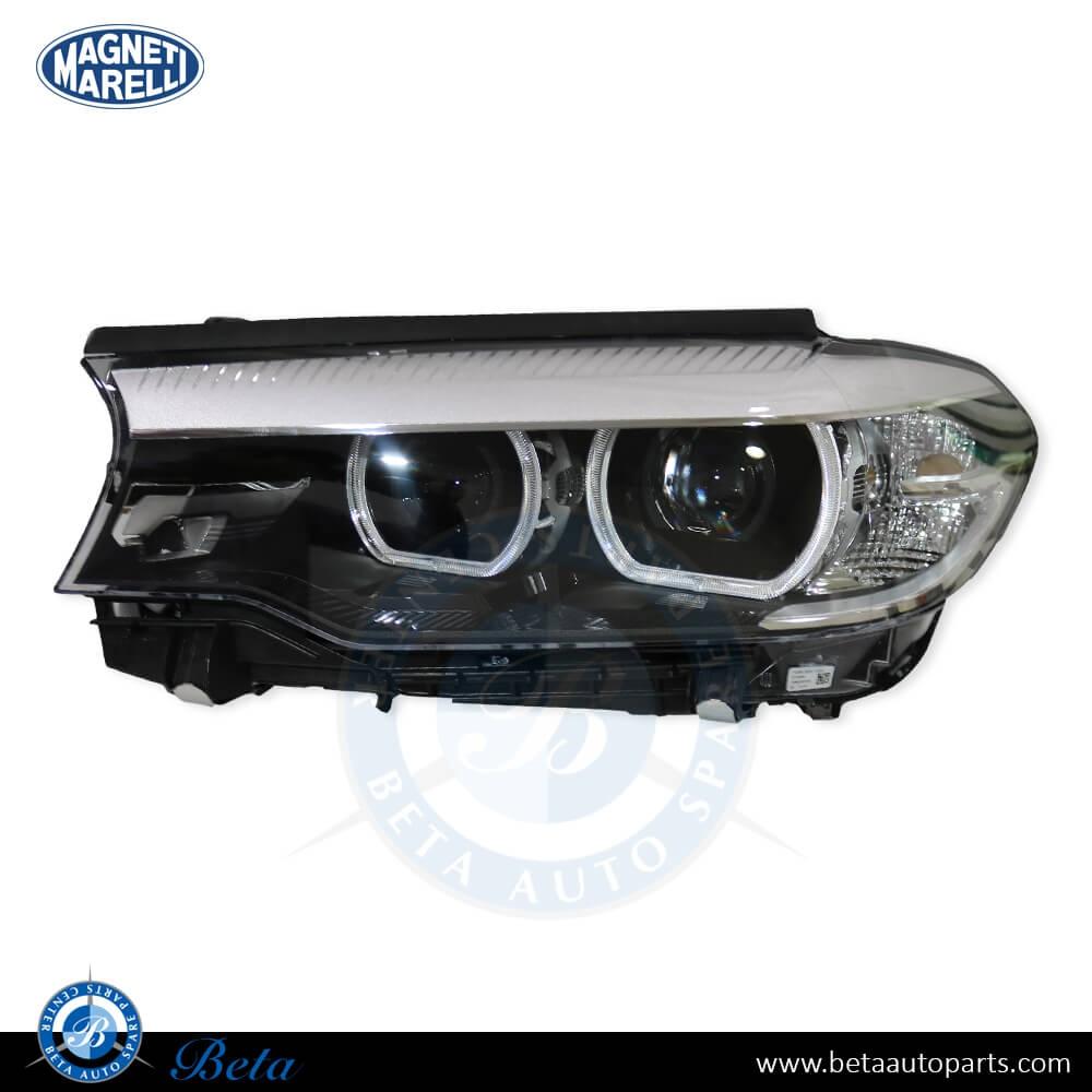 BMW 5 Series G30 (2017-up), Headlamp LED AHL (Left Side), Magneti Marelli, 63117214955