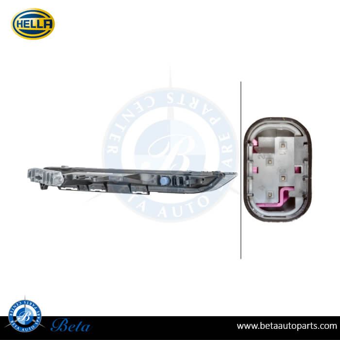 Porsche Cayenne (2014-up), DRL Indicator (Left), Hella, 95863118130