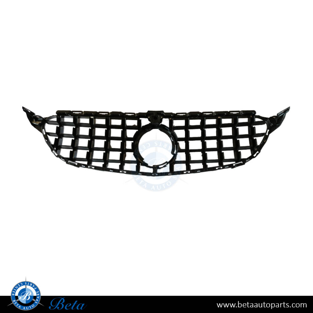 Mercedes C-Class W205 (2019-up), Grille GT Style with Camera Hole (Black), China, FS205026