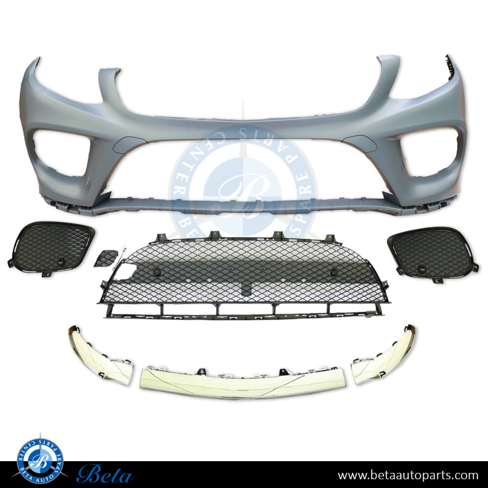 2*Front Bumper Fog Light Grille Cover Trim For Mercedes-Benz GLK CLASS 2013-2015