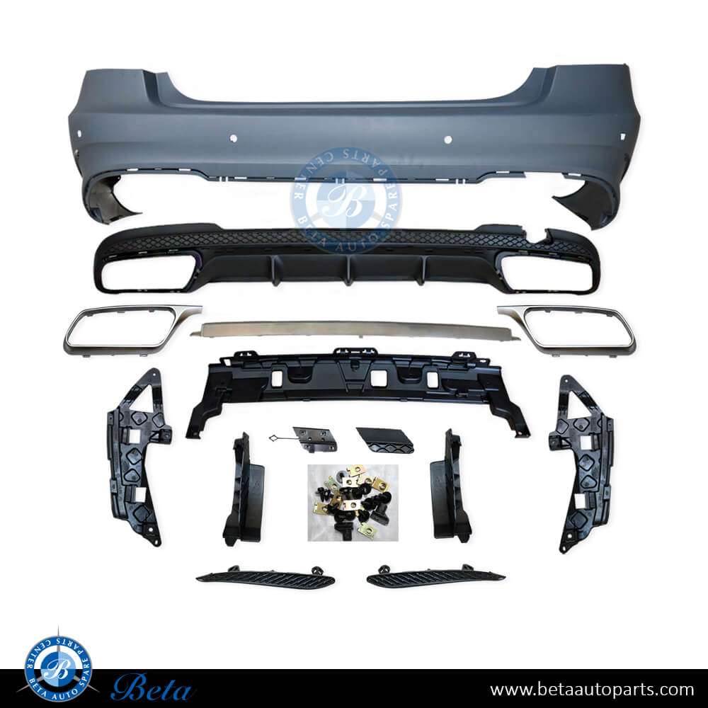 Mercedes E-Class W212 (2014-2016), Rear bumper assembly with PDC E63, Taiwan, 2128853538